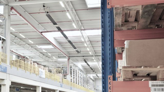 Heating devices for logistic centres