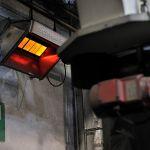 Luminous heater primoSchwank of the company Schwank in action.
