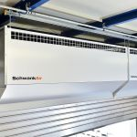 The Schwank air curtain series H from close up.
